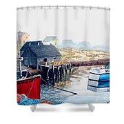 Peggy's Cove Harbour Shower Curtain