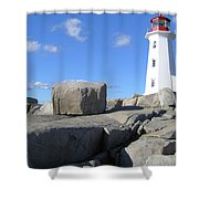 Peggys Cove Light House Shower Curtain