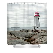 Peggys Cove Lighthouse 2 Shower Curtain