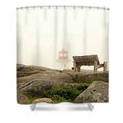 Peggy's Cove Lighthouse And The Banch Shower Curtain