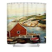 Peggys Cove Nova Scotia Landmark Shower Curtain
