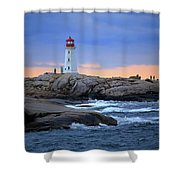 Peggy's Point Lighthouse, Nova Scotia, Canada Shower Curtain