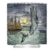 Pehe Nu-e: Moby Dick Shower Curtain