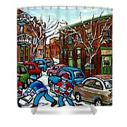 Peintures De Montreal Scene De Pointe St Charles Rue Grand Trunk Shower Curtain