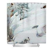 Pekka Halonen, Winter Landscape Shower Curtain