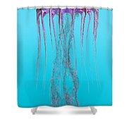 Pelagia Noctiluca Jellyfish Shower Curtain