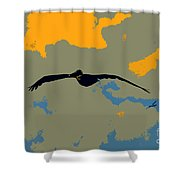 Pelican And Airplane Shower Curtain