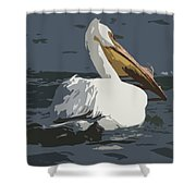 Pelican Cut Out Shower Curtain
