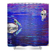 Pelican Mates 2 Shower Curtain