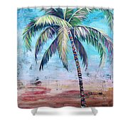 Pelican Palm II Shower Curtain