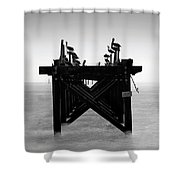 Pelican Pier - Pass Christian - Mississippi Shower Curtain