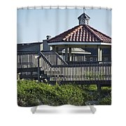 Pelican Weathervane Ocean Isle Norht Carolina Shower Curtain