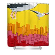 Pelicans Shower Curtain