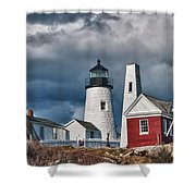 Pemaquid Point Lighthouse 4821 Shower Curtain