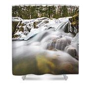 Pemi Cascades Shower Curtain