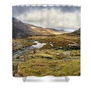 Pen Yr Ole Wen And Tryfan Mountain Shower Curtain