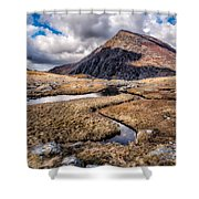 Pen Yr Ole Wen Mountain Shower Curtain