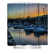 Penarth Harbour In Wales Shower Curtain