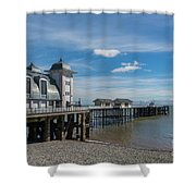 Penarth Pier Glorious Day Shower Curtain