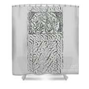 Pencil  Drawing Digital Image   Shower Curtain
