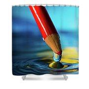 Pencil Drip Shower Curtain