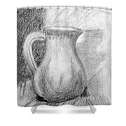 Pencil Pitcher Shower Curtain