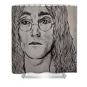 Pencil Portrait Of John Lennon  Shower Curtain