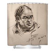 Sketch Man 8 Shower Curtain