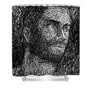 Pencilportrait 04 Shower Curtain