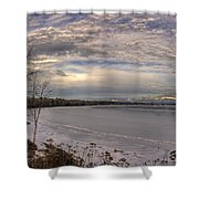 Pend D'oreille Lake Panorama Shower Curtain
