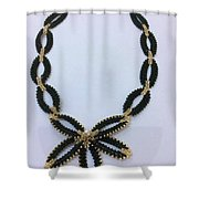 Pendant With Beads 1 Shower Curtain