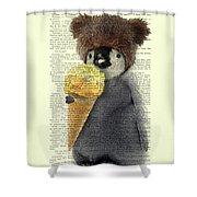 Penguin Ice Cream Shower Curtain