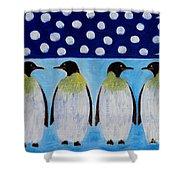 Penguins Talking Shower Curtain