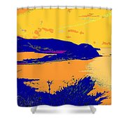 Peninsula Orange Shower Curtain