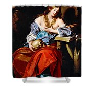 Penitent Mary Magdalene Shower Curtain