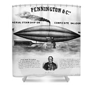 Penningtons Airship, 1850 Shower Curtain