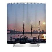 Penns Landing Sunrise Shower Curtain
