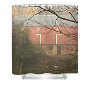 Pennsylvania German Barn In The Mist Shower Curtain