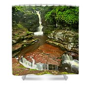 Pennsylvania Red Rock Falls Shower Curtain