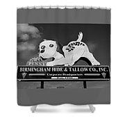 Penny Dog Food Sign Photoart Shower Curtain