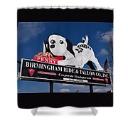 Penny Dog Food Sign 1 Shower Curtain