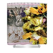 Penny Postcard Easter Shower Curtain