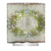 Penny Postcard Rustic Shower Curtain