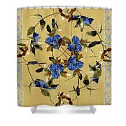 Penny Postcard Silk-stitched Shower Curtain