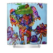 Penny Steps Out Shower Curtain