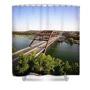 Pennybacker Bridge Shower Curtain