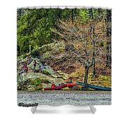 Pennyrile Park Canoes Shower Curtain