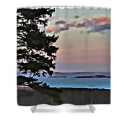 Penobscot Bay At Dusk Shower Curtain