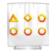 Penrose Triangle And Polygons Colored Shower Curtain