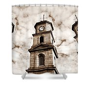 Penryn Clock Tower In Sepia Shower Curtain